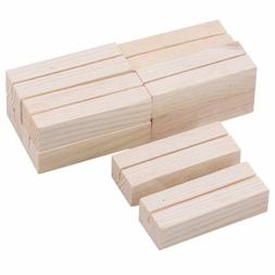 10pcs Pine Wood Wooden Business Card Holders for Business Ca