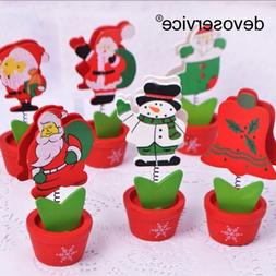 1Pc Christmas Wooden <font><b>Clips</b></font> Photo <font><