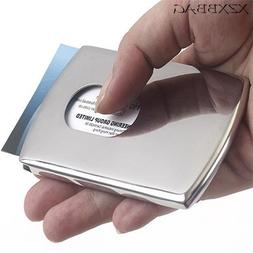 XZXBBAG 1PC Sliding Stainless Steel ID <font><b>Card</b></fo