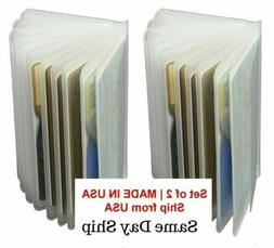 2 Plastic Wallet Insert Replacement Picture Card Holder Trif