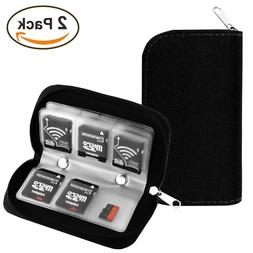 2 X Memory Card Storage Carrying Case Holder Wallet CF/SD/SD