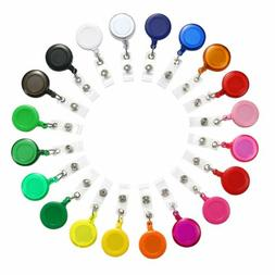 20pcs Badge Holder ID Retractable Reels Clip On Name Card Ho