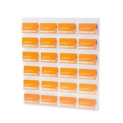 SourceOne Premium 24 Pocket Wall Mount Business Card Holder