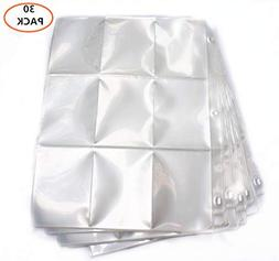 270 Pockets Trading Card Sleeves Storage Wallets Album Pages