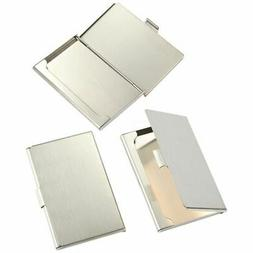 3 Stainless Steel Silver Business Card Holders Case for Men