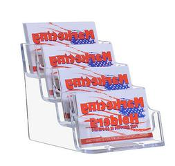 4 Tier Pocket Clear Acrylic Business Card Holders Multi Slot