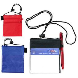 5 Conference Badges ID Business Card Holders Zippered Wholes