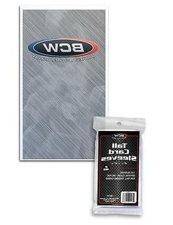 5 packs 500 BCW Tall Trading Card Storage Sleeves Holders