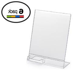 """10 Pack of T'z Tagz Brand 8.5""""w X11""""h Acrylic Slanted Sign H"""