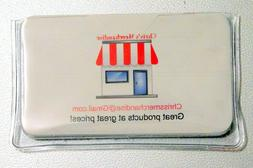BUSINESS CARD HOLDER Pouch Sleeve Vinyl CLEAR PLASTIC CASE C