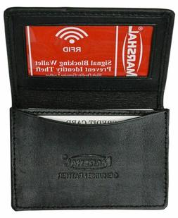 Marshal RFID Blocking Expandable Business Card Case Genuine