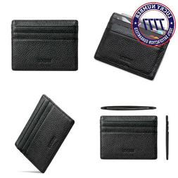 Meku Slim Leather Wallet Credit Card Case Sleeve Card Holder