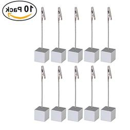 NUOLUX 10pcs Memo Clip Holder Stand with Alligator Clasp for