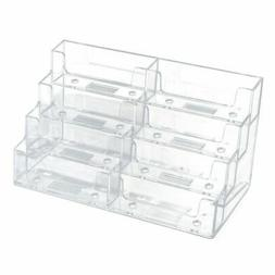 Acrylic Business Card Holder – 8 Pockets Clear Business Ca