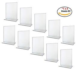 Beryland Acrylic Sign Holder - 5 x 7 inches - Side Insert, 1