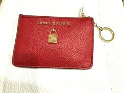 Michael Kors Adele Small Top Zip Coin Pouch Card Holder ID K