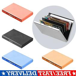 Aluminum Metal Slim Anti-Scan Credit Card Holder RFID Blocki