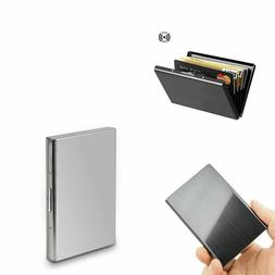 Aluminum Metal Wallet RFID Blocking Crash Proof Credit Card