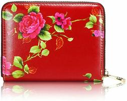APHISON RFID Credit Card Holder Travel Leather Wallet for Wo