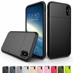 For iPhone X 8 7 6s 6 Plus SE2 Phone Case Thin Wallet Credit