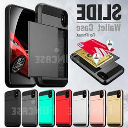 For Apple iPhone X 8Plus 6s 5s Wallet Case Credit Card ID Ho