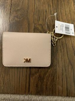 Authentic Michael Kors Money Pieces Key Ring Card Holder Sof