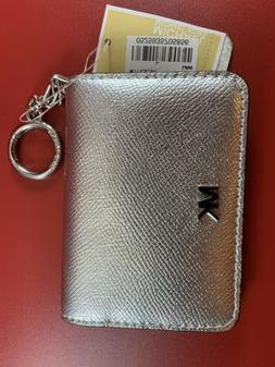 Michael Kors Ballet Crossgrain Leather Key Ring Card Holder
