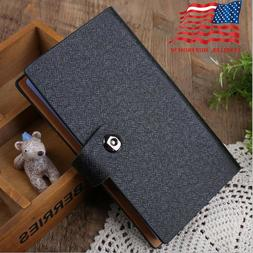 Black Business Card Holder Book PU Leather 240 Name Cards Or