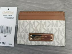 MICHAEL KORS Brown/Vanilla LEATHER Card Holder BNWT RRP £45