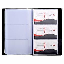 business card book holder professional pu leather