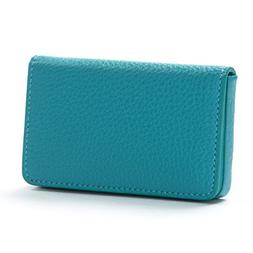 Business Card Case - Full Grain Leather - Teal