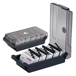 Business Card File Holder Name Case Storage Box with Index T