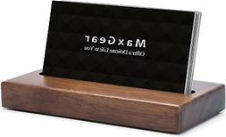MaxGear Business Card Holder for Desk Wood Business Card Dis