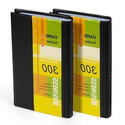 Business Card Holder Organizer Book - PU Leather, 2 Pack Tot