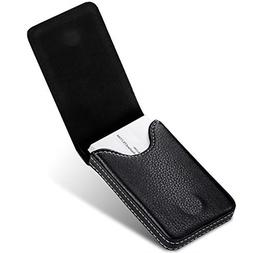 Business Card Holder Premium PU Leather Business Card Case W