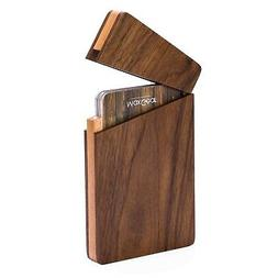 MaxGear Business Card Holder Wood Business Card Holders, Bus
