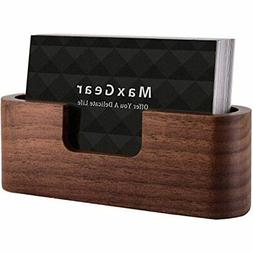 Business Card Holder Wood For Desk Display Desktop Stand Off