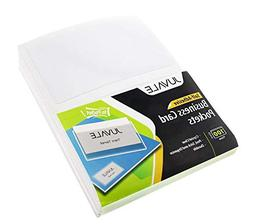 Juvale Business Card Plastic Sleeves - Self Adhesive Poly Po