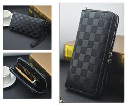 business men s leather clutch wallet long