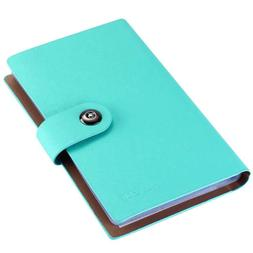 Business PU Leather Cards Organizer Book, 300 Cell-Blue