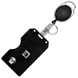 Specialist ID Carabiner Badge Reel with Vertical Multi Card