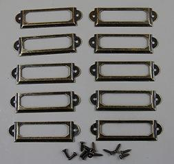 100 Pieces Card Holder Drawer Pull/label holders/Label Frame