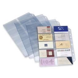 TOPS Cardinal Poly Business Card Refill Page, 10-Pack