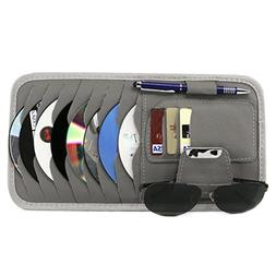 StyleZ CD Sun Visor Organizer Detachable Portable PU Leather