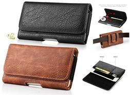 Cell Phone Pouch Horizontal Leather Case Cover Belt Clip Hol