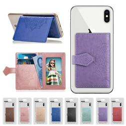 For Cell Phone Universal ID Credit Card Holder Cash Pocket S