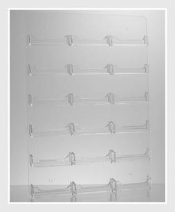 Dazzling Displays Clear Acrylic 18-Pocket Wall Mount Busines