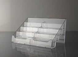 T'z Tagz Brand Clear Acrylic 8 Pocket Countertop Business Ca