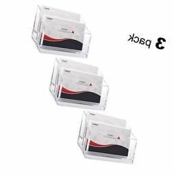 MaxGear Clear Business Card Stand Holder 2 Tier Acrylic Busi