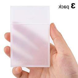 c7be37e81e9d MaxGear Clear Plastic Business Card Hold...